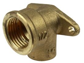 Racord Cotit Bronz cu Suport (Teava Cupru) 1/2x18mm - 667169