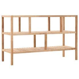 Raft de baie, 100 x 40 x 65 cm, lemn de nuc masiv