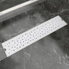 Rigolă duș liniară, model bule, oțel inoxidabil, 530 x 140 mm
