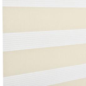 Roleta dubla (zebra) - protectie lumina - jaluzea - fara gaurire (60x150cm) bej