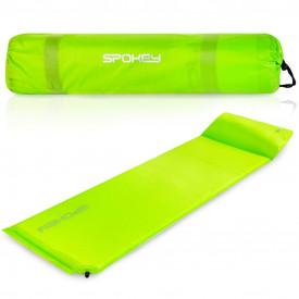 Saltea autogonflabila cu perna 186 x 50 x 2.5 cm Spokey Savory Pillow, verde