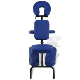 Scaun de masaj pliabil & portabil, albastru