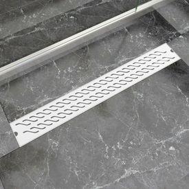 Scurgere duș liniară din oțel inoxidabil, model val, 830x140 mm