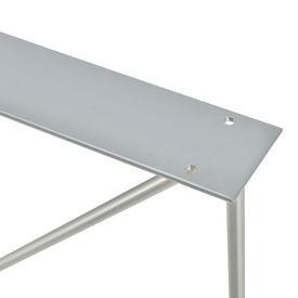 Set 2 bucati picioare masa AATF-9502, 62 x 22 x 72 cm, otel sinterizat, argintiu pentru mobilier Fa singur