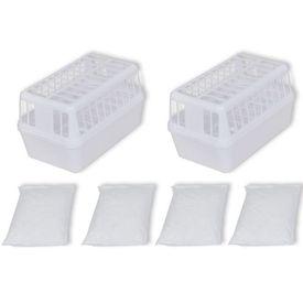 Set 2 recipiente dezumidificator cu 4 kg de clorură de calciu
