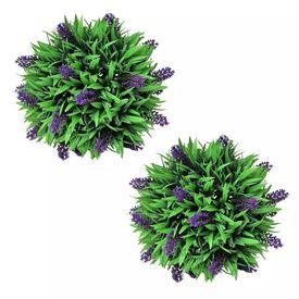 Set ornamente florale artificiale cu lavandă, 28 cm, 2 buc.