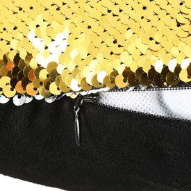 Set perne cu paiete, 2 buc., 60 x 60 cm, auriu și argintiu