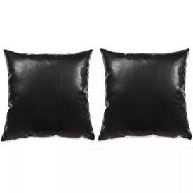Set perne decorative 2 buc. Poliuretan 45x45 cm Negru