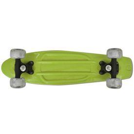 Skateboard retro cu roți cu LED-uri Verde