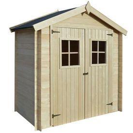 Șopron, cabană bușteni, căsuță grădină, 2 x 1 m, 19 mm, lemn