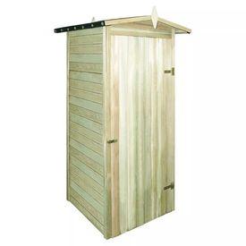 Șopron de grădină din lemn de pin tratat 100x100x210 cm