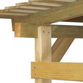 Șopron de grădină din lemn de pin tratat, 170 x 200 x 200 cm