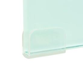 Stativ TV/monitor, sticlă, 40 x 25 x 11 cm, alb