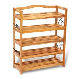 Suport încălțăminte cu 5 rafturi din lemn