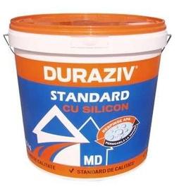 Tencuiala decorativa structurata cu silicon DURAZIV STANDARD MD alba - 25 kg
