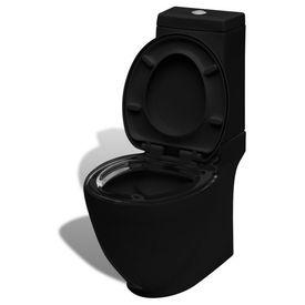 Vas WC cu rezervor, Negru