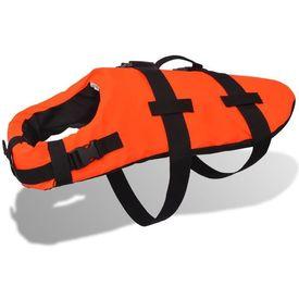 Vestă salvare câini, mărime L, portocaliu