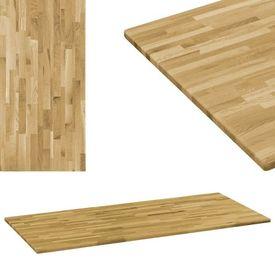 vidaXL Blat masă, lemn masiv de stejar, dreptunghiular, 23mm 120x60cm