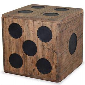 vidaXL Cutie de depozitare Mindi Lemn 40x40x40 cm, Design tip zar