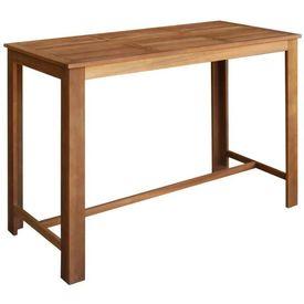 vidaXL Masă de bar, lemn masiv de salcâm, 150 x 70 x 105 cm