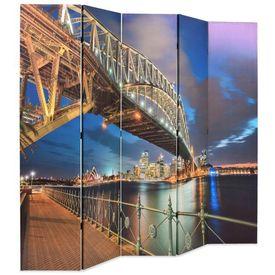 vidaXL Paravan de cameră pliabil, 200 x 180 cm, Sydney Harbour Bridge