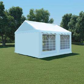 vidaXL Pavilion de grădină, alb, 4 x 4 m, PVC