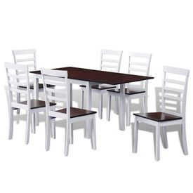 vidaXL Set de masă extensibil 7 piese Maro și alb