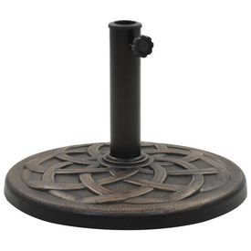 vidaXL Suport umbrelă de soare, bronz, 19 kg, polirășină, rotund