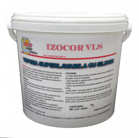 Vopsea lavabila siliconica pentru exterior IZOCOR VLS - 15 kg