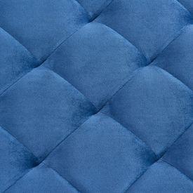 Bancă, albastru, 97 cm, țesătură catifea și oțel inoxidabil