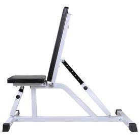 Bancă de antrenament cu set de haltere și gantere, 30,5 kg