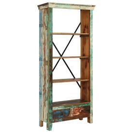 Bibliotecă din lemn masiv reciclat, 80 x 35 x 180 cm