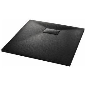 Cădiță de duș, negru, 90 x 90 cm, SMC