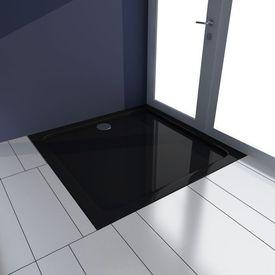 Cădiță pentru duș pătrată din ABS, 80 x 80 cm, negru