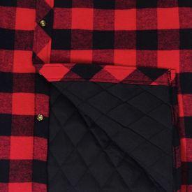 Cămașă de lucru bărbați căptușită/flanel tartan roșu-negru, mărime M