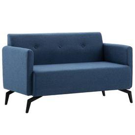 Canapea 2 locuri, tapițerie textilă, 115 x 60 x 67 cm albastru
