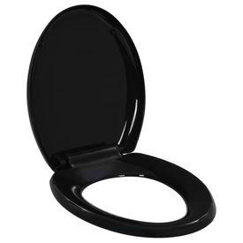 Capac WC închidere silențioasă, eliberare rapidă, negru
