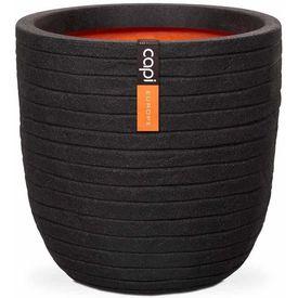 """Capi Jardinieră în formă de ou """"Nature Row"""" negru, 54x52 cm, PKBLRO935"""
