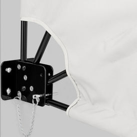 [casa.pro]®. Umbrela de soare montabila pe perete - Paravan solar de perete alb