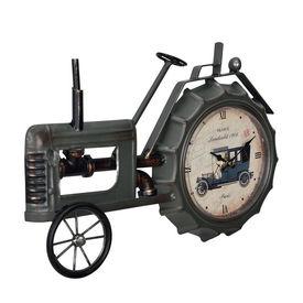 Ceas design de perete - Model 3 - Tractor, metal/plastic, 41 x 3,5 x 27 cm, multicolor