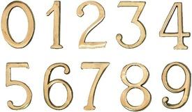 """Cifre Autoadezive din Plastic pt Usa de Apartament """"3""""  - 10 buc"""