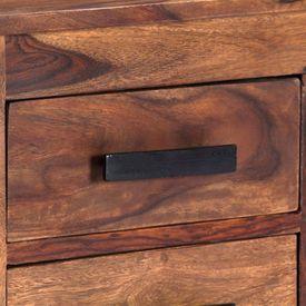 Comodă TV, 110 x 30 x 40 cm, lemn masiv de sheesham
