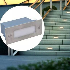 Corpuri de iluminat trepte cu LED 44 x 111 x 56 mm, 12 buc.