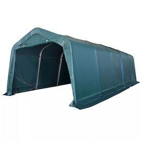 Cort portabil pentru animale 3,3 x 8 m, verde închis