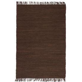 Covor Chindi țesut manual, bumbac, 200 x 290 cm, maro