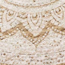 Covor din iută împletită cu imprimeu 90 cm Rotund