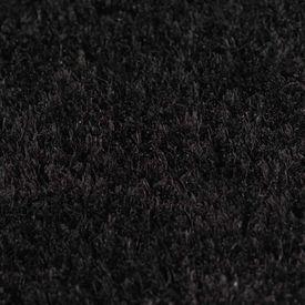 Covor intrare, fibră de nucă cocos 17 mm, 100x100 cm Negru