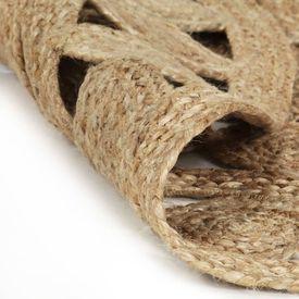 Covor manual din iută împletită, 90 cm