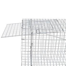 Cușcă capcană 150 cm, oțel galvanizat