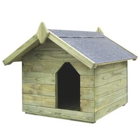 Cușcă de câine grădină, acoperiș detașabil, FSC lemn pin tratat